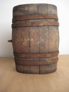 View Item Antique Wooden Barrel Oval Rare Antique Wooden Barrel Wooden Barrel Antiques