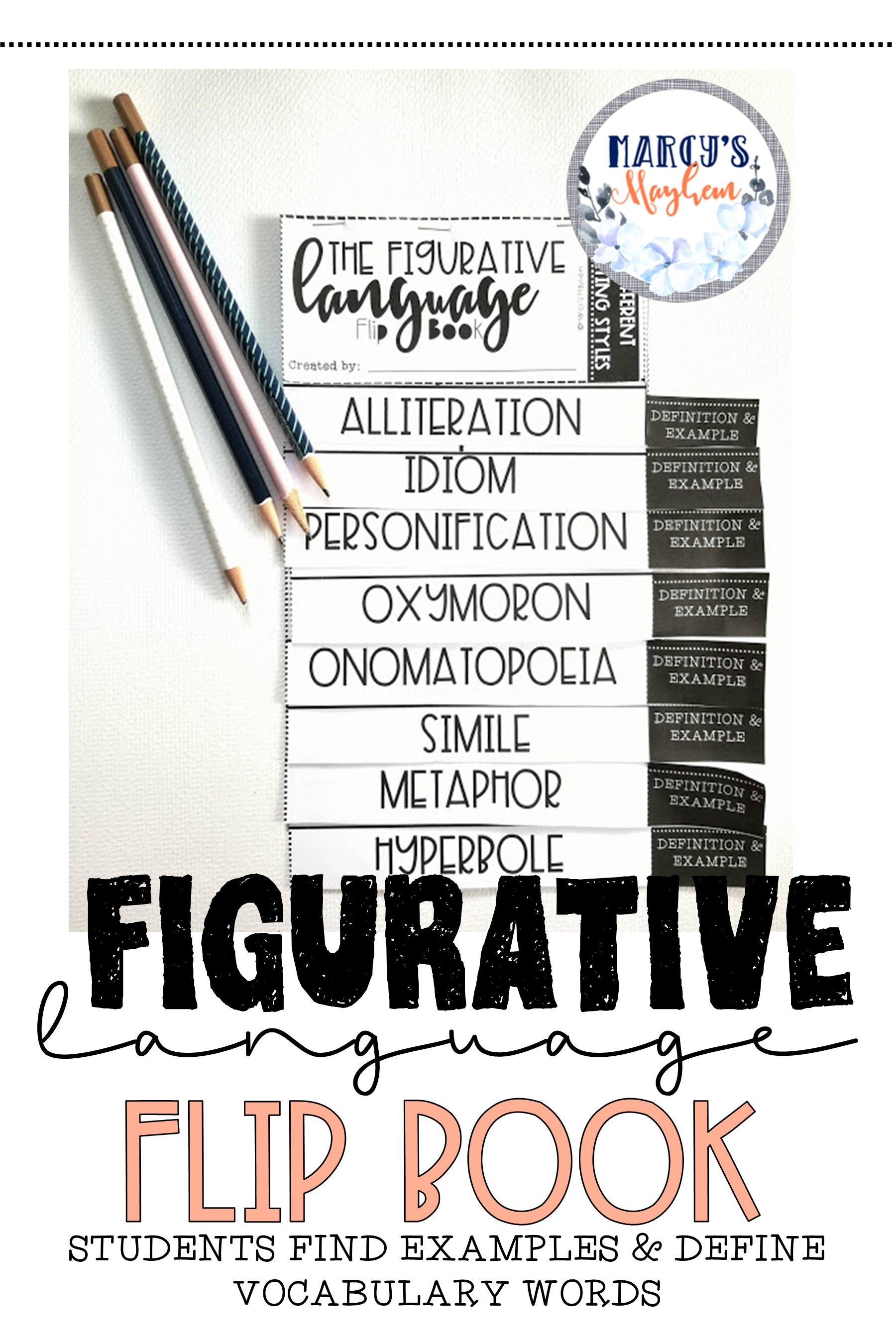 Figurative Language Activity Flip Book