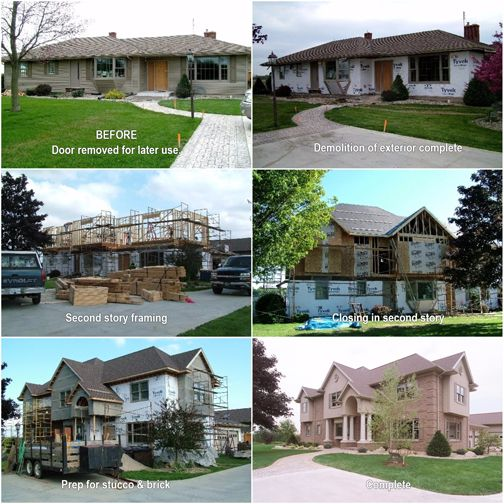 Before After Second Floor Addition And Complete Renovation Of The Exterior Martin Brothers Expanded A Ranch House Remodel Ranch Remodel Ranch Style Homes
