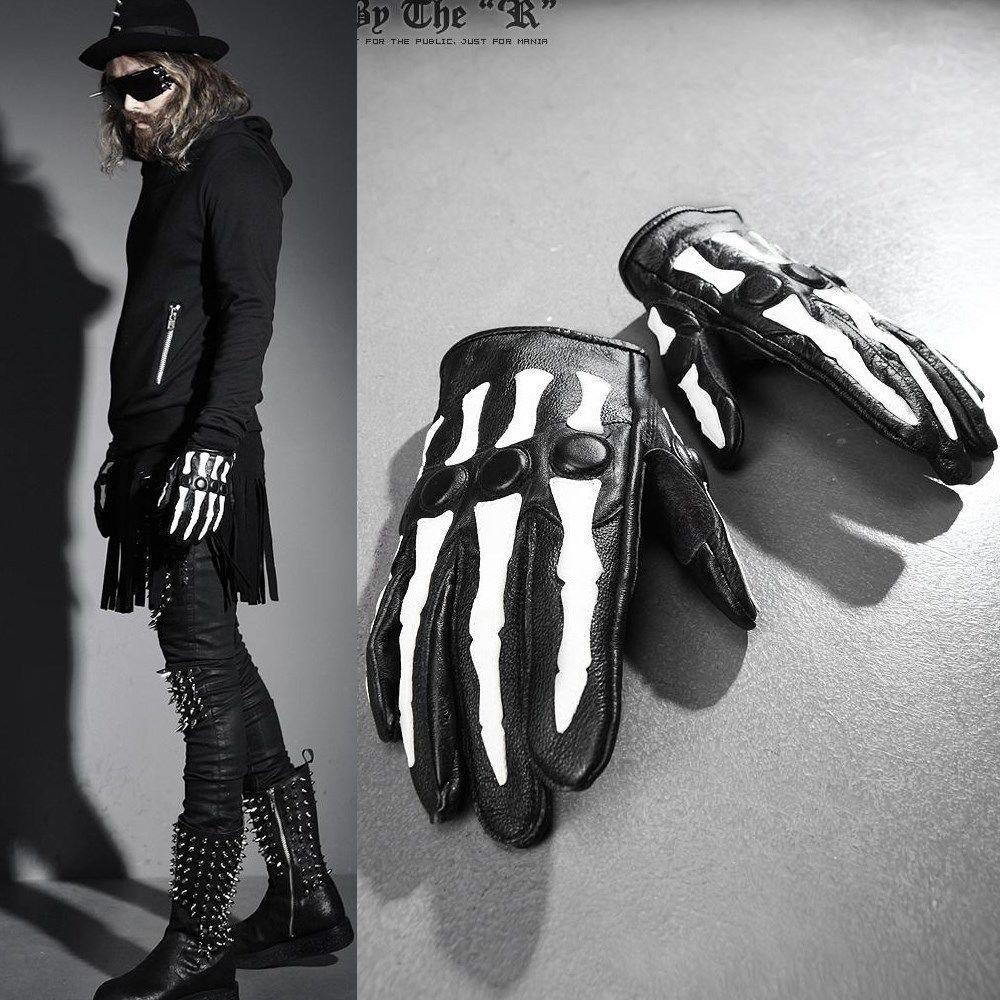 Leather motorcycle skeleton gloves - Byther Skeleton Gloves