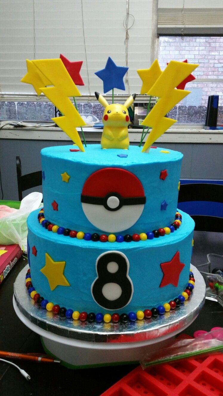Pokemon Birthday Cake Pokemon Cake Pinterest Pokemon Birthday