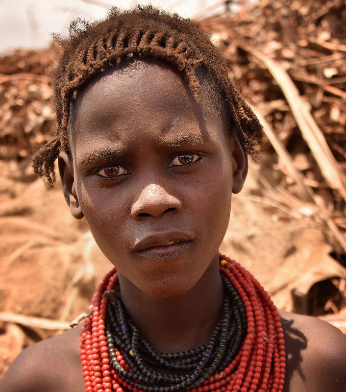 A woman of the Toposa people, with traditional