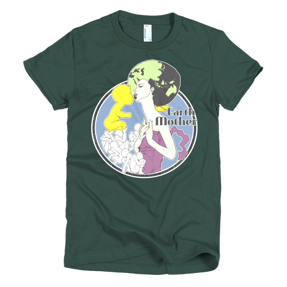 Connect With Earth Mother #2 Short sleeve Women's t-shirt