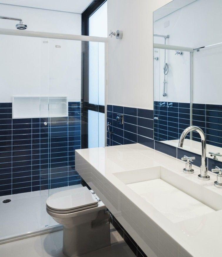 Carrelage Bleu Idées Déco Pour Cuisine Et Salle De Bain Idées - Carrelage bleu pour idees de deco de cuisine