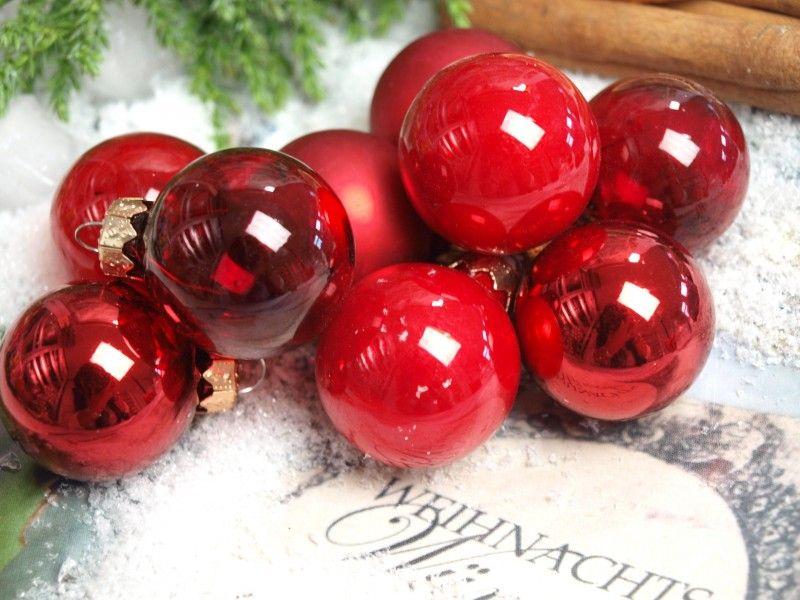 Weihnachtsbaumkugeln rot glas