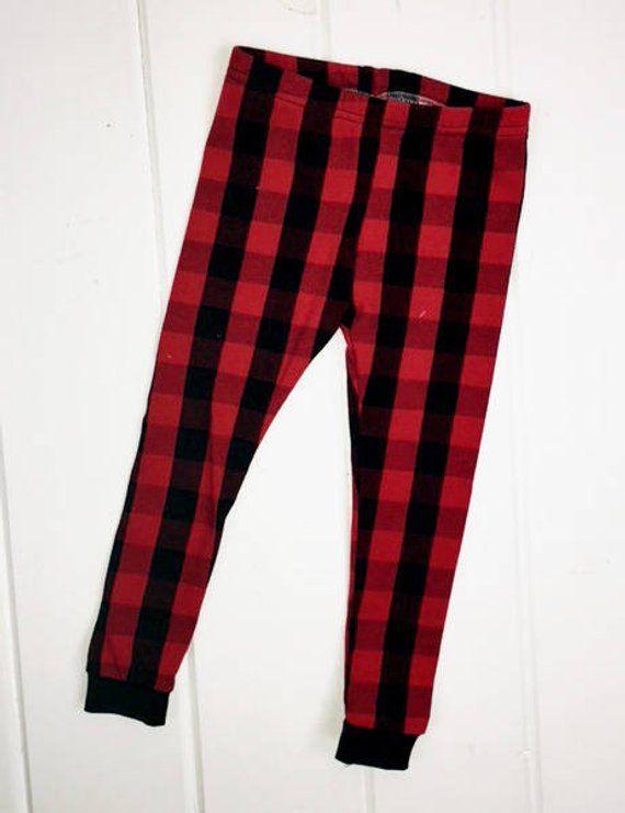 9d9b481b57b36 Buffalo Plaid Leggings Girls - Buffalo Plaid Baby Girl - Buffalo Plaid - Red  and Black - Baby Girl