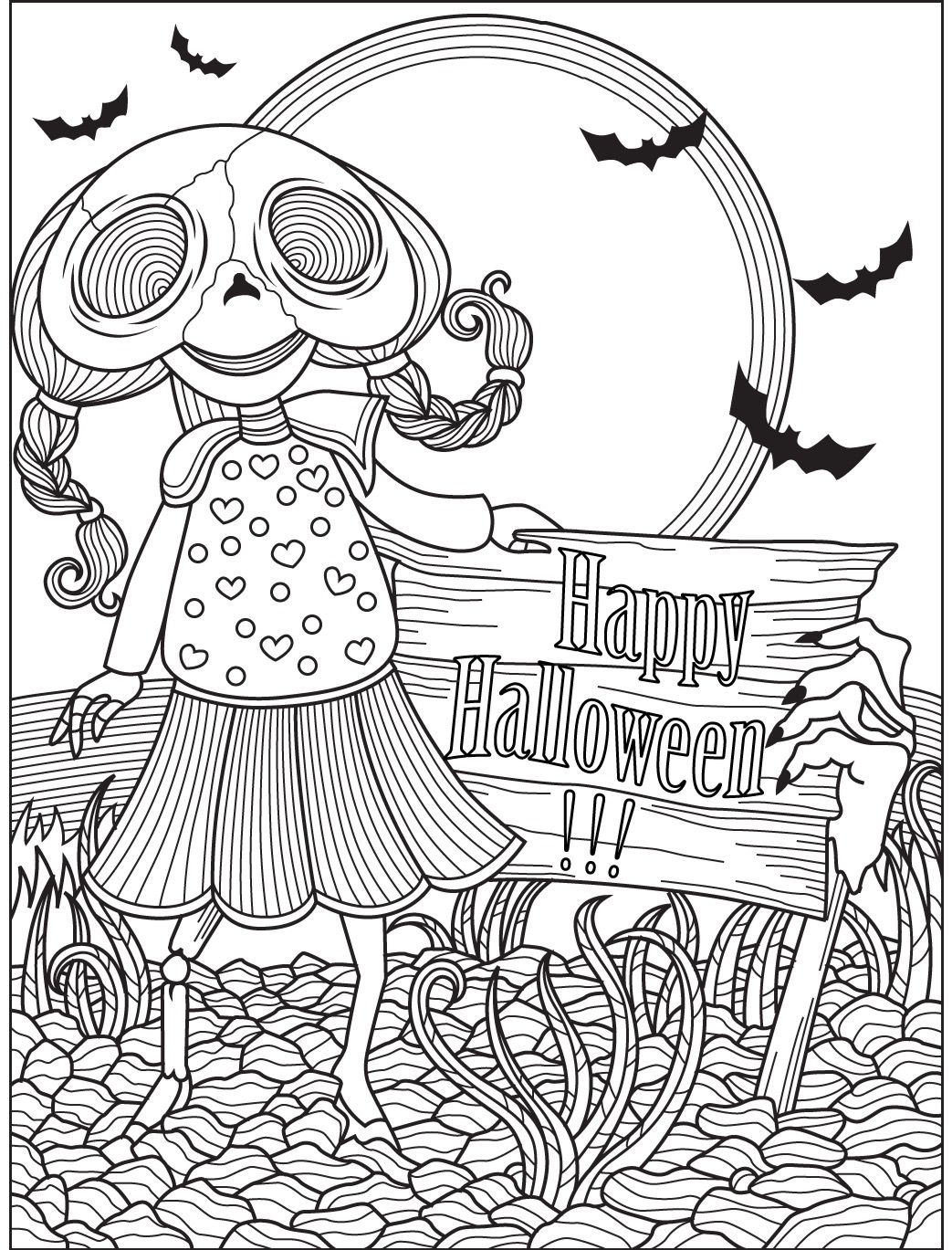 Halloween Coloring Page Colorish Free Coloring App For Adults By Goodsofttech Coloring Books Halloween Coloring Pages Coloring Pages