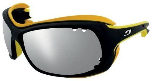 0a46ea3a8ae1 Julbo Swell Sunglasses, Polarized 3+, Black/Yellow by Julbo. $89.99. Cord  option-allows attachment of a cordn & RX compatible - this frame can be  equipped ...