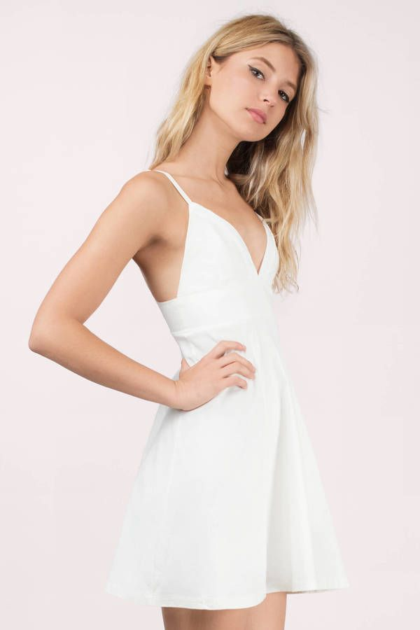 White Dresses Tobi Tripping Out Skater Dress