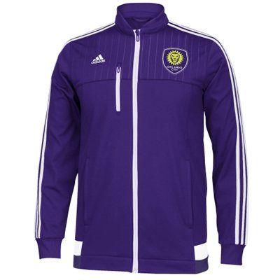 9315c04002a Mens Orlando City SC adidas Purple Anthem Full Zip Track Jacket ...
