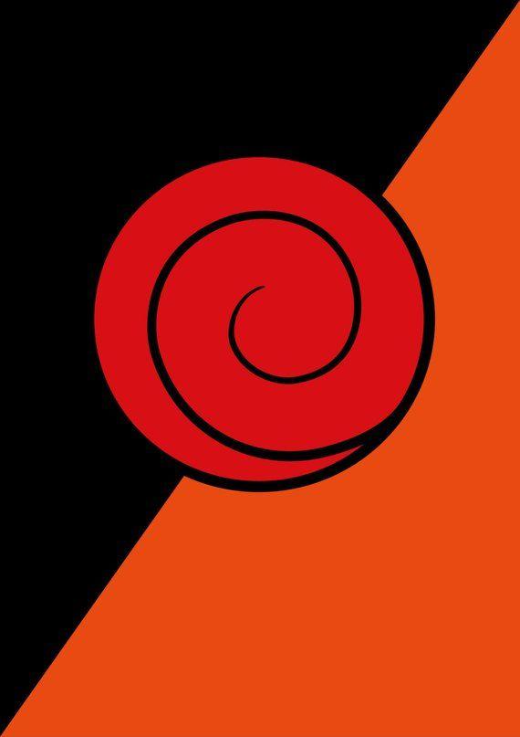 Naruto Poster, Uzumaki & Uchiha clan symbols, Minimalist ... Uchiha Clan Tattoo