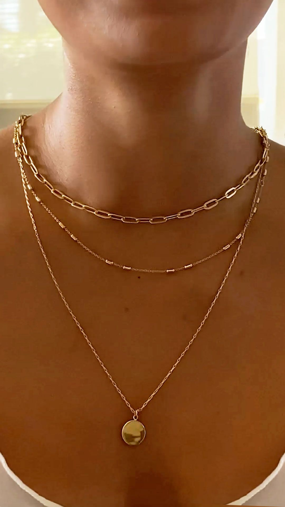 How to Layer Delicate Necklaces