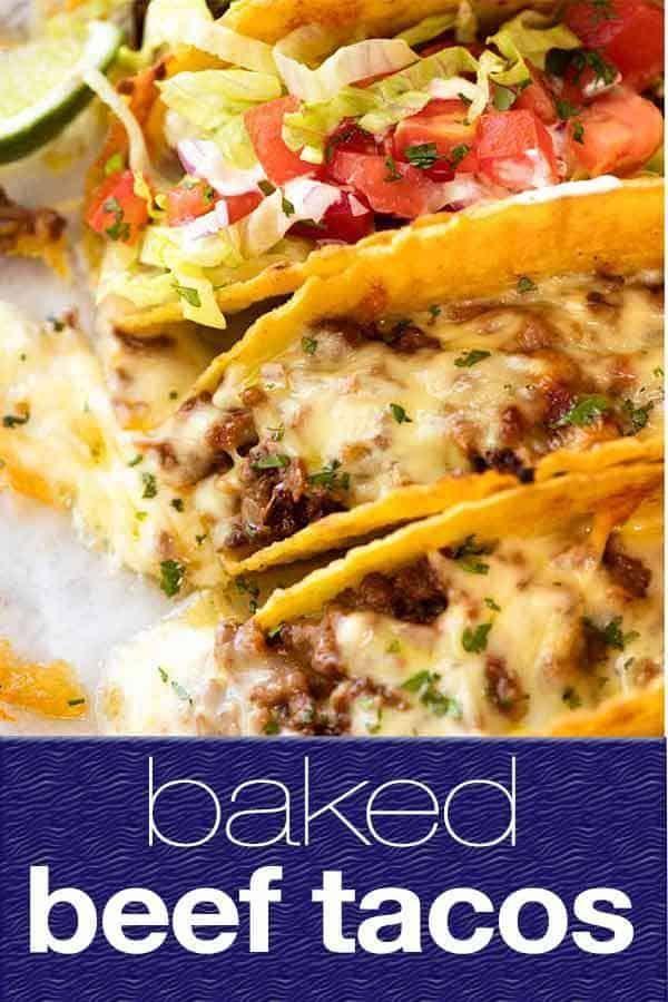 Baked Beef Tacos #tacorecipes
