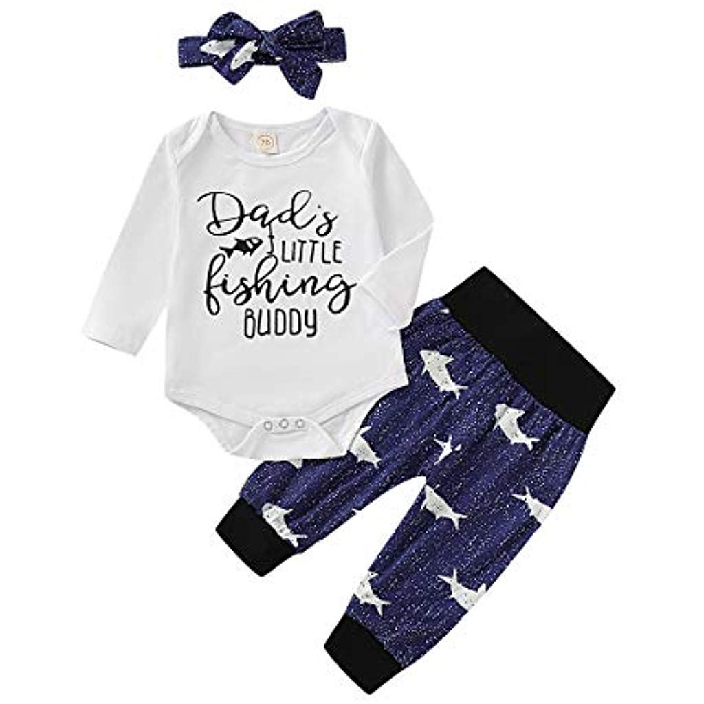 Newborn Baby Boy Girl Easter Clothes T-shirt Tops+Long Pants 2PCS Outfits Set UK