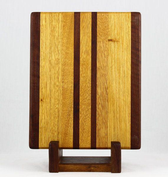 Satinwood & Walnut Butcher Block Cutting Board $60