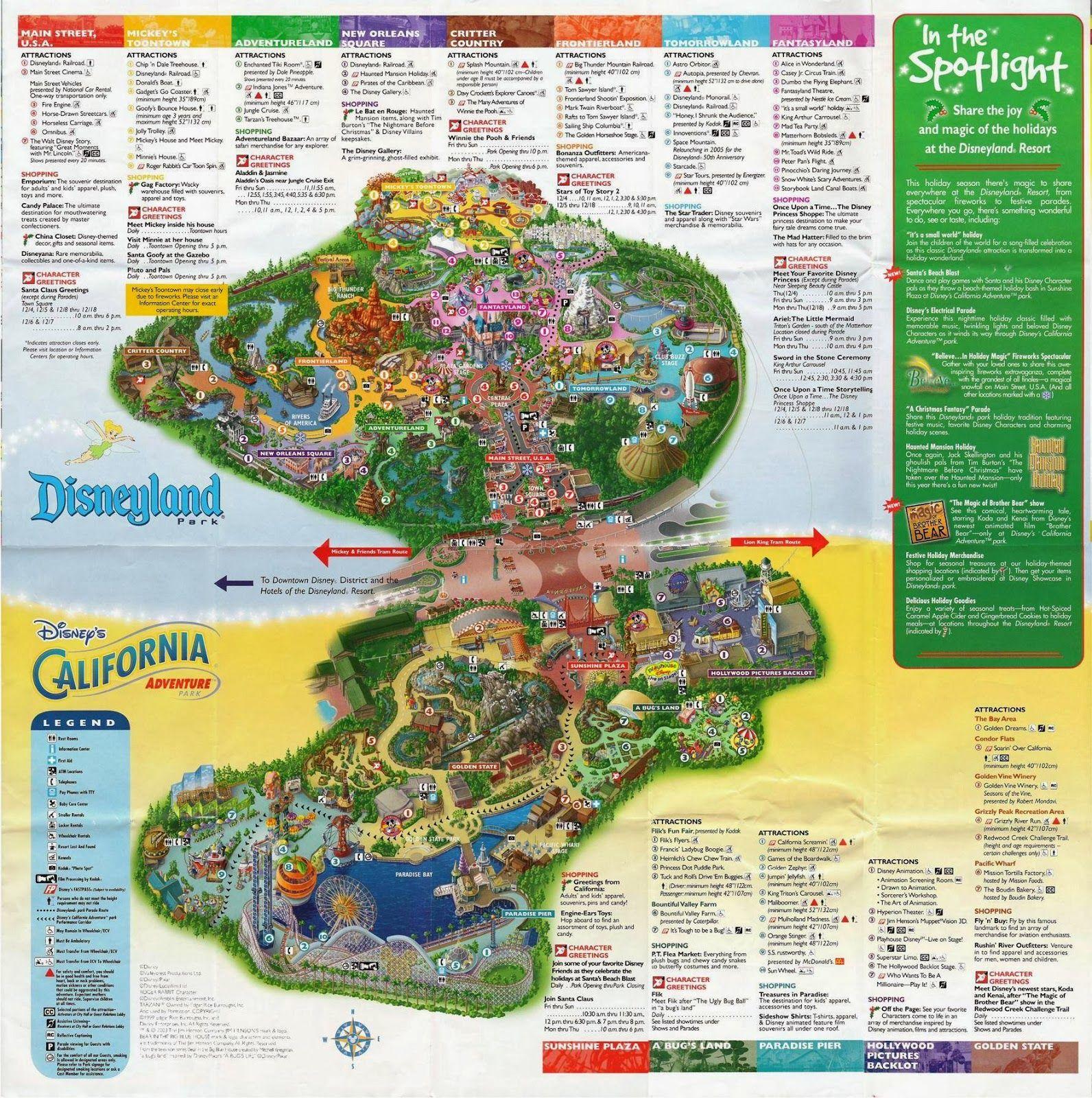 Disneyland Printable Park Map 2014  File Name  Disneylandand