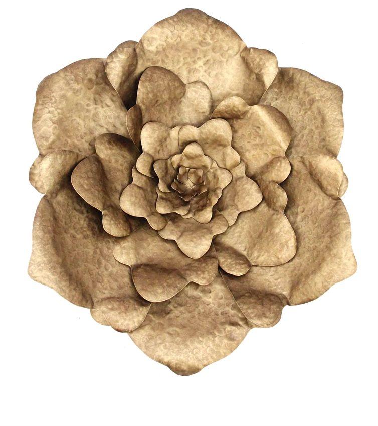 gorgeous golden flower | golden flower | Pinterest | Flower wall ...