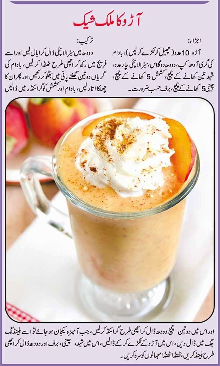 urdu recipe for aro ka shake (with images) | cooking recipes