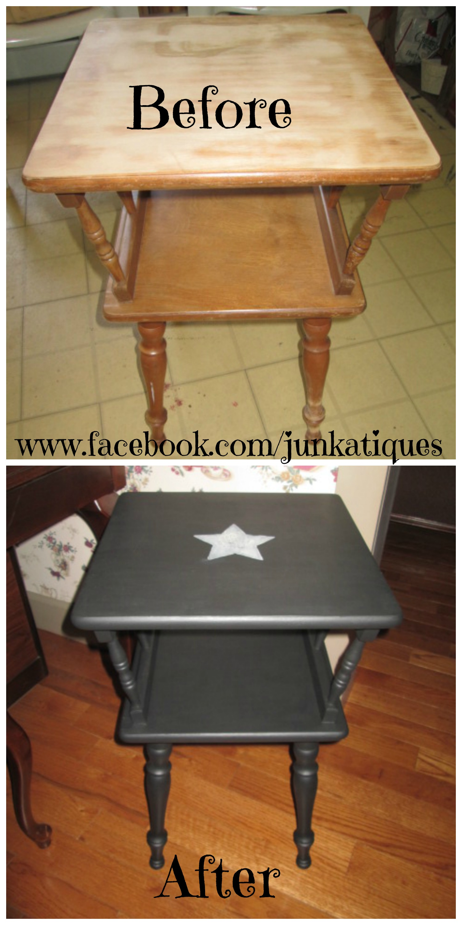 Delightful Primitive Upcycled End Table... Chalk Paint... Www.facebook.