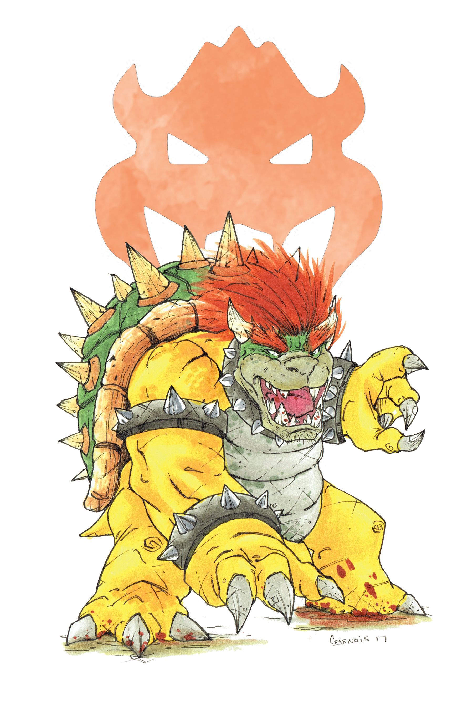 Copic Marker Drawing Bowser Copic Marker Drawings