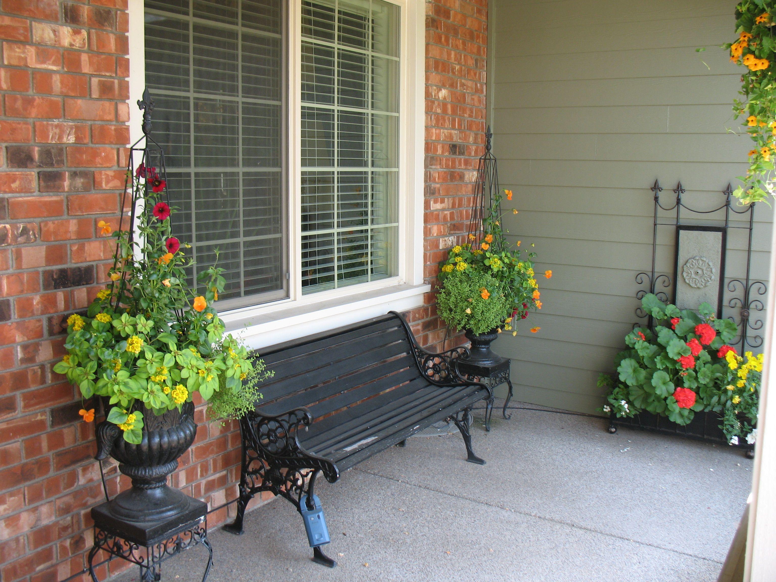 Front Porch Planters Landscaping Garage Ideas