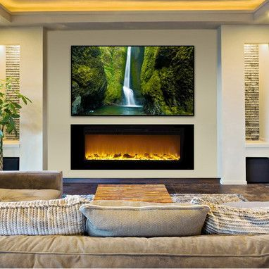 Fireplace wall and Contemporary