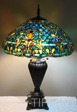 Tiffany style stained glass table lamp azure sea w 20 shade explora vidrieras tiffany y mucho ms tiffany style stained glass table lamp aloadofball Gallery
