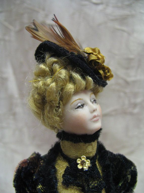 Exquisite Victorian Gibson Girl  Porcelain Lady by KaysStudio, $145.00