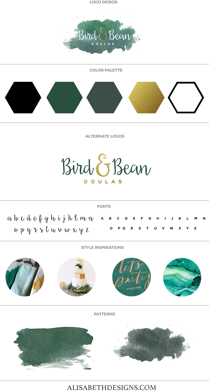 32aa2666be93 Doula Brand Board by Alisabeth Designs Custom Brand Design - Custom  Business Logo - Custom Branding - Blog Kit - Branding Design - Brand Color  Palette ...