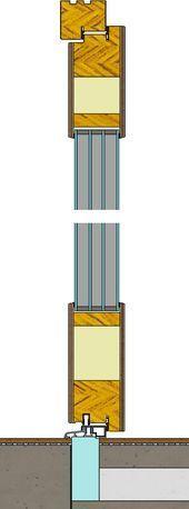 Photo of Vertikalt snitt gjennom tre ytterdører produsert …- Vertikalt sek …
