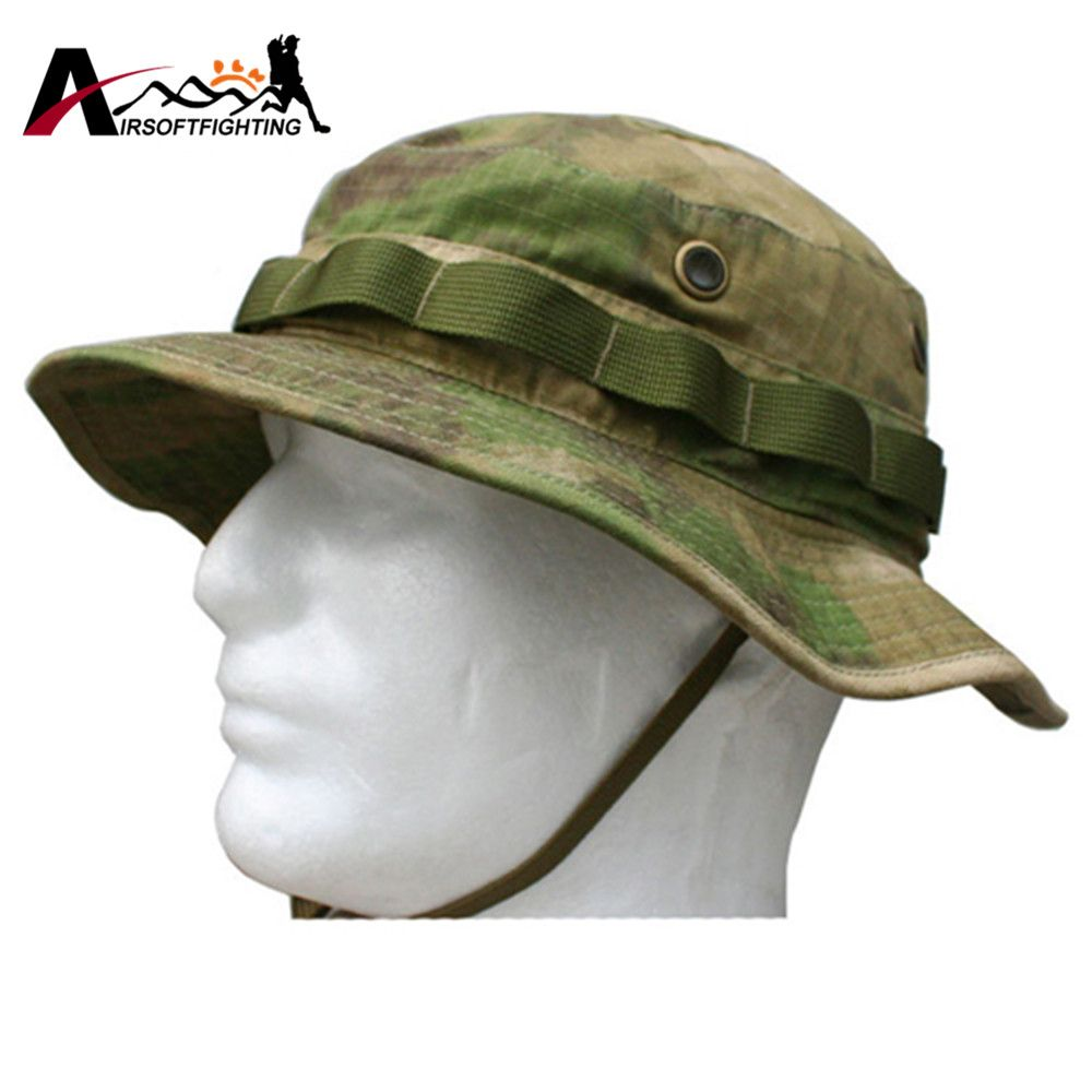 Emerson Tactical Anti-scrape Camouflage Bucket Hat Battle Rip Boonie Hats  Outdoor Hiking Fishing Hunting Cap Sports Sunhats d0ed09984edf