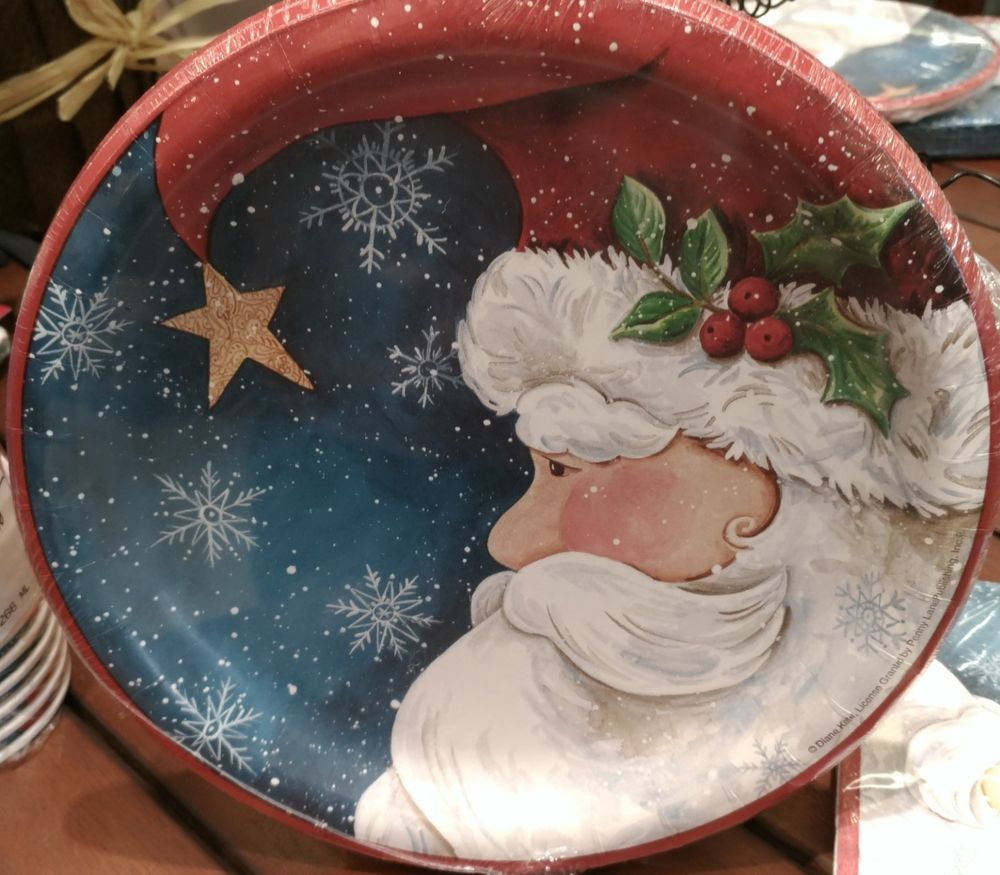 Santa S Watching Christmas Party Tableware Plates Napkins Cups Amscan Party Tableware Paper Party Bags Tableware
