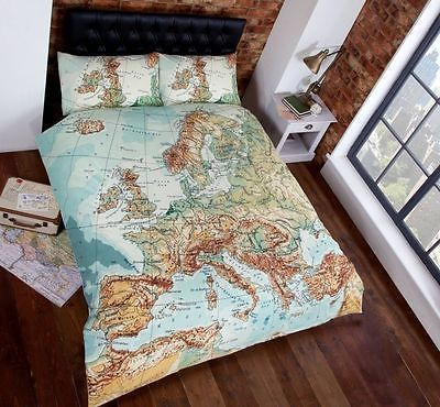 Vintage-Map-Atlas-Duvet-Quilt-Cover-Bedding-Set