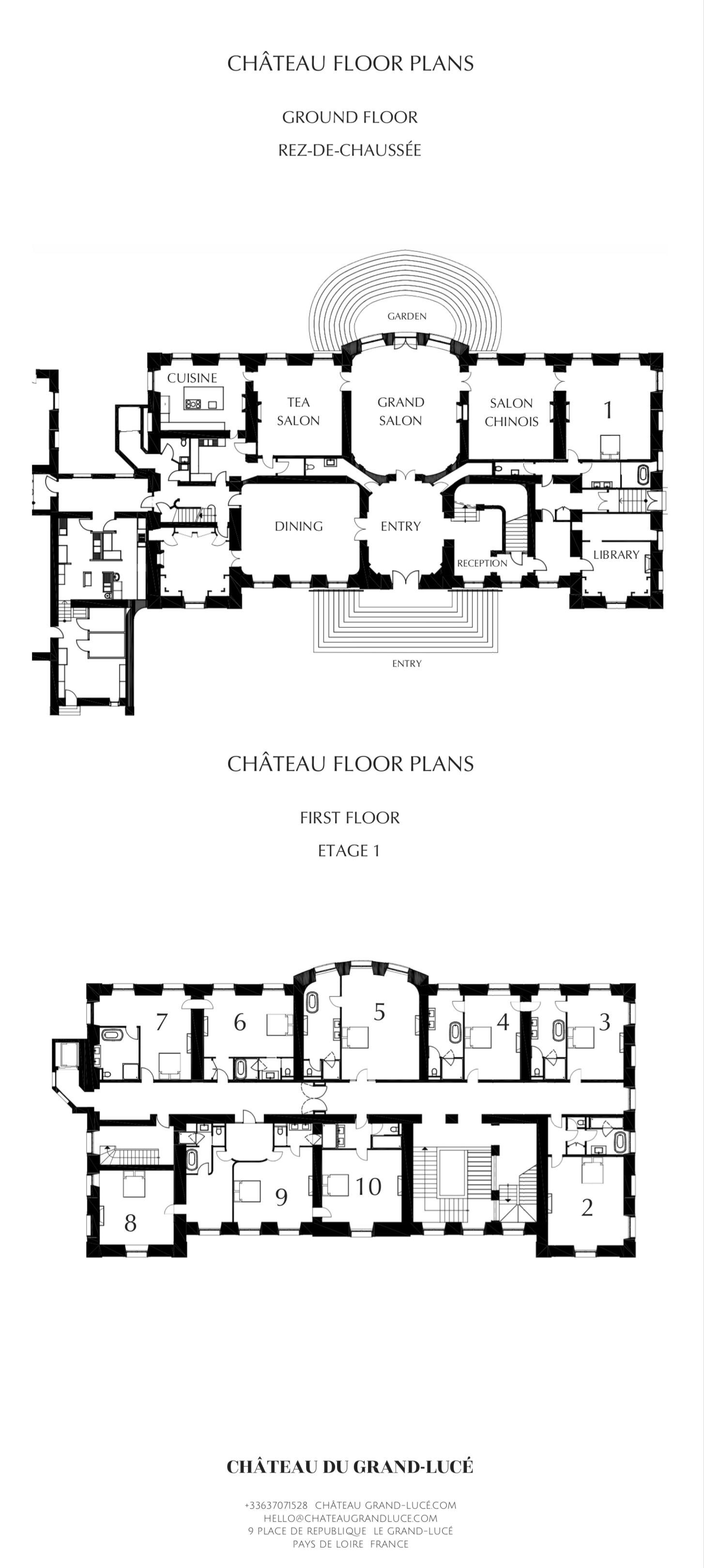 Hotel Chateau Du Grand Luce Hotel Floor Plan Mansion Floor Plan Country House Floor Plan