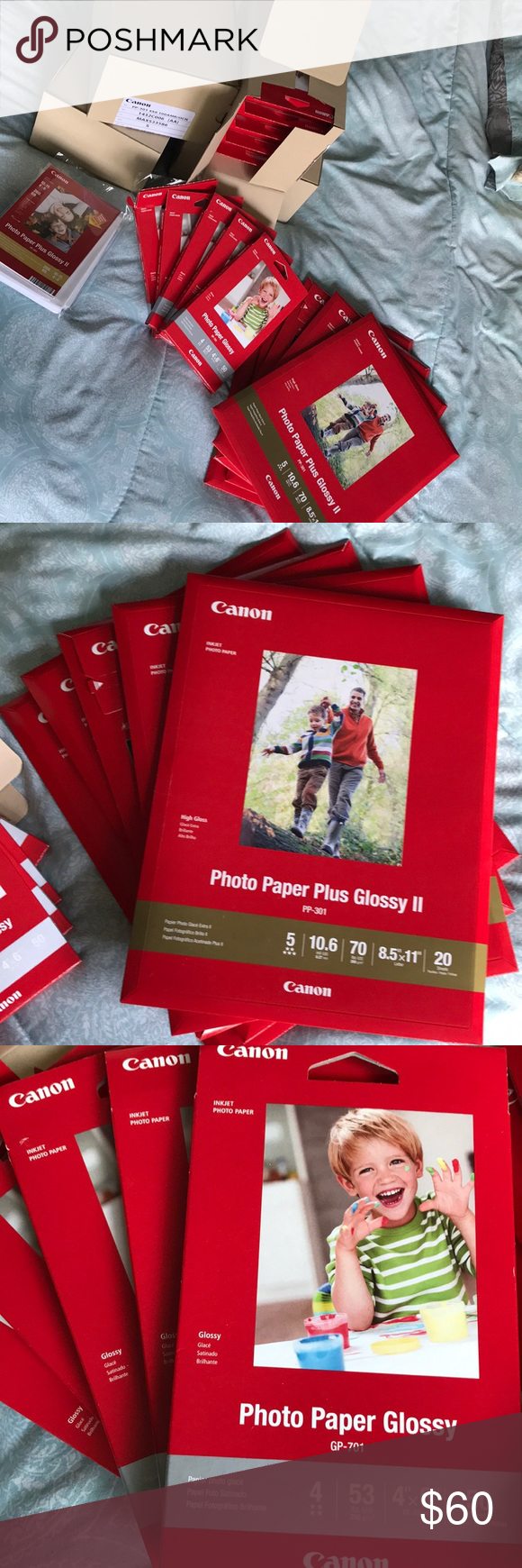 Canon Camera Glossy Printing Photo Paper Bundle Tons Of Canon Brand