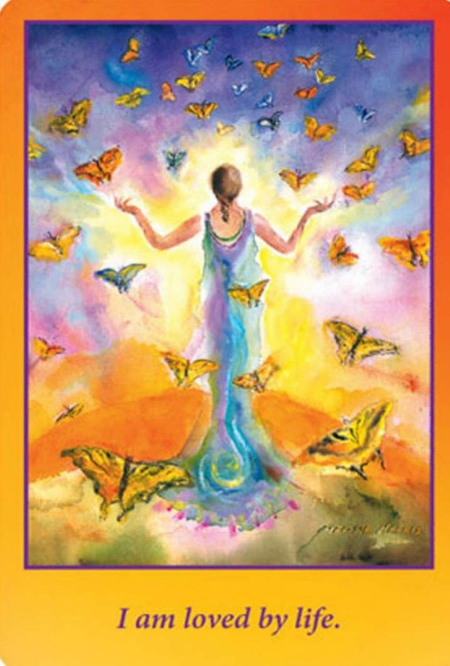 Goddess on the go wisdom cards i am loved by life