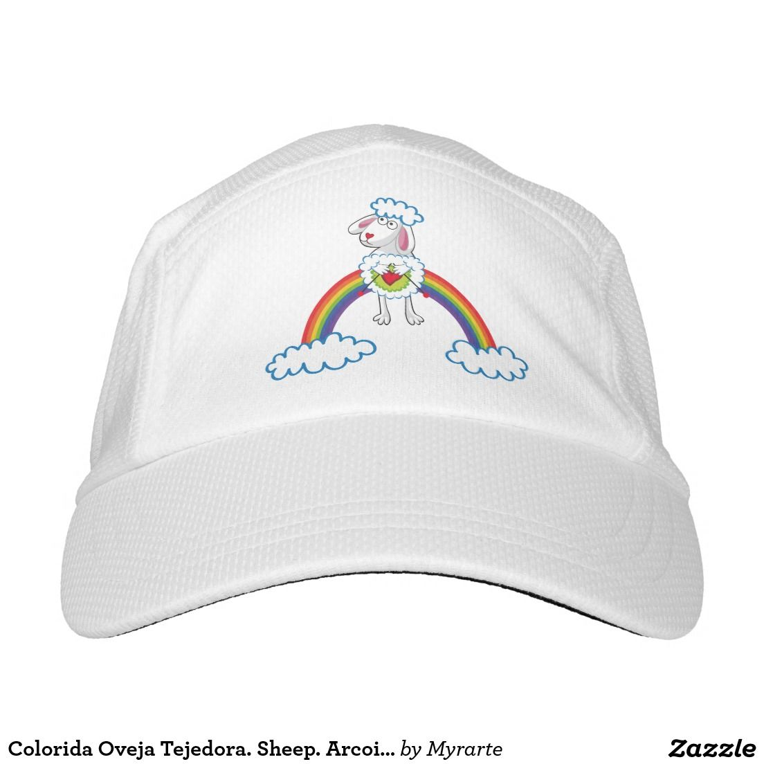 Colorida Oveja Tejedora. Sheep. Arcoiris, rainbow. Regalos, Gifts. #gorra #hat