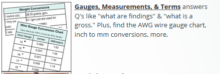 Gauges measurements terms answers qs like what are findings gauges measurements terms answers qs like what are findings greentooth Images