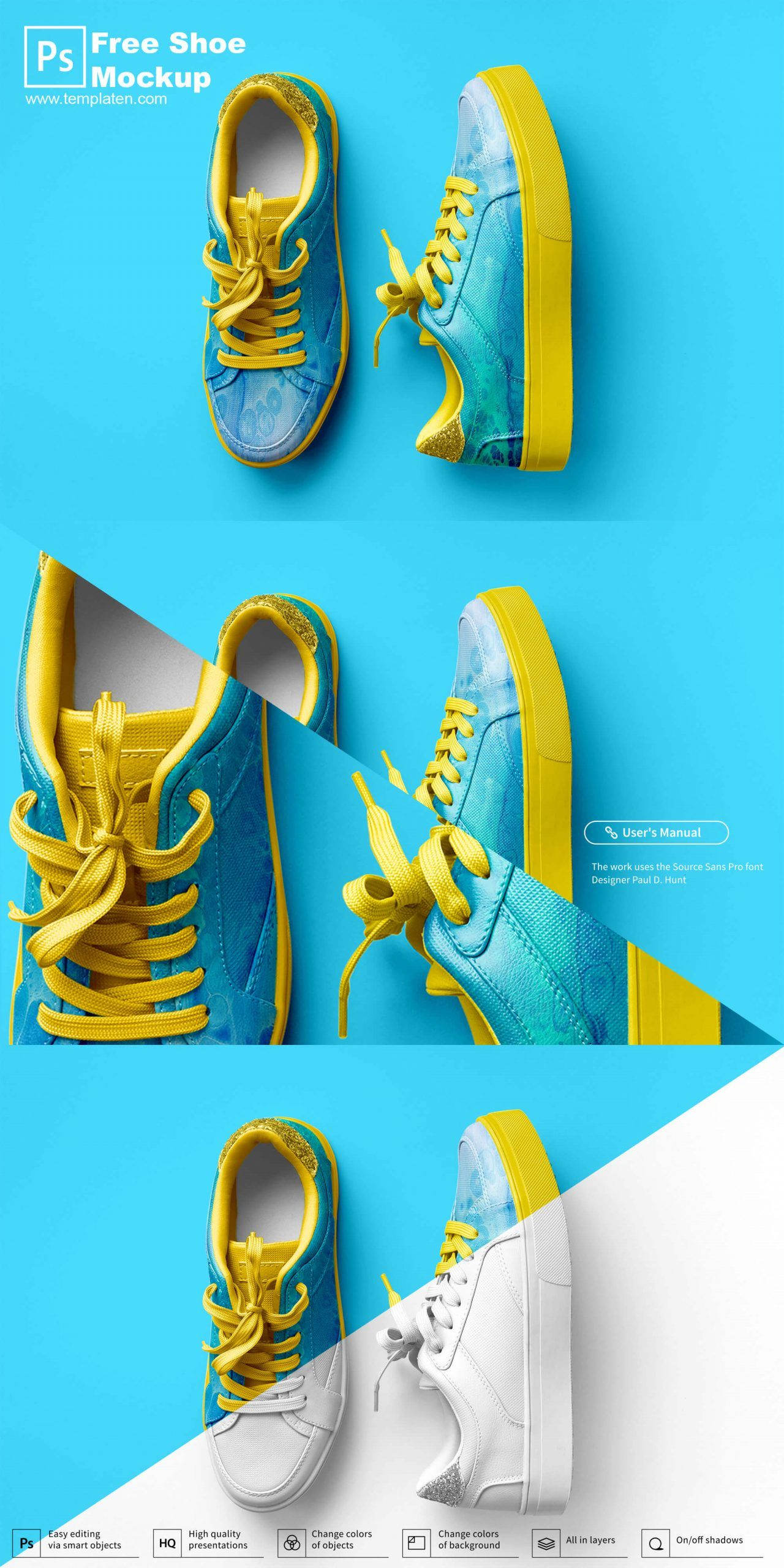 Free Shoe Psd Template Mockup For Display Presentation Free Shoes Psd Templates Shoes