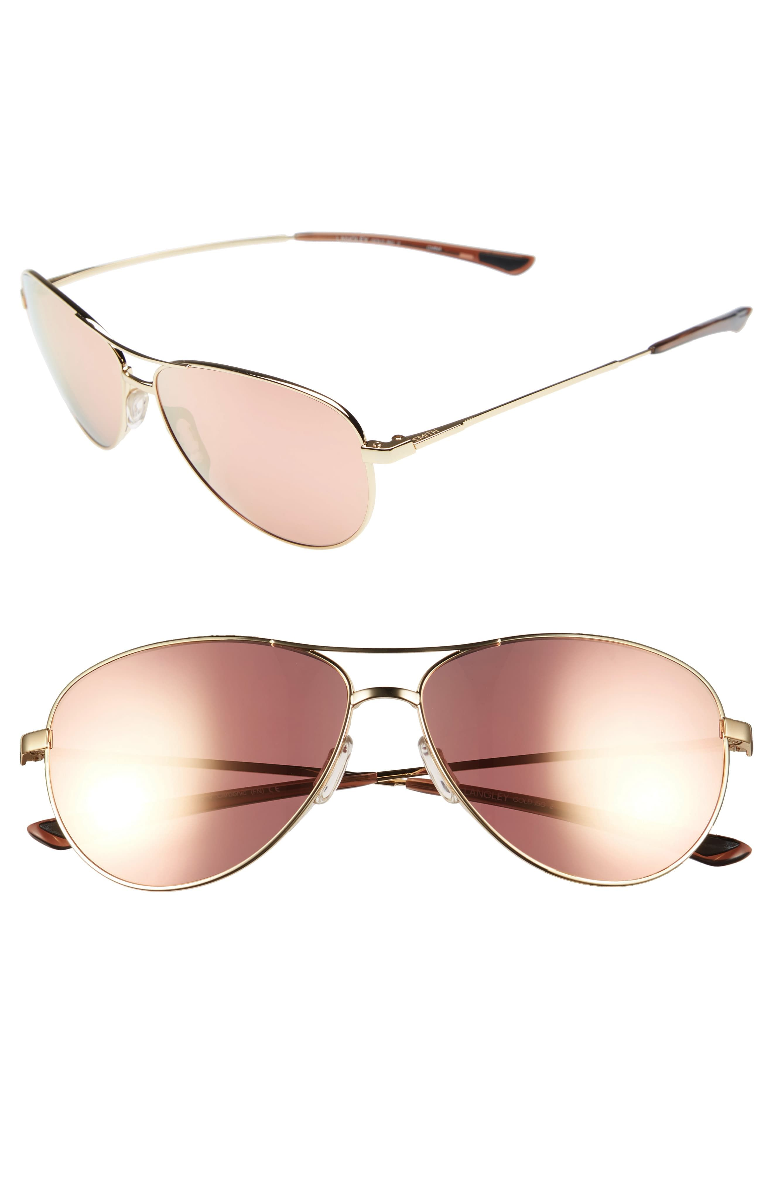 a3c0524b0 Women's Smith 'Langley' 60Mm Aviator Sunglasses - Gold in 2019 ...