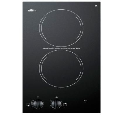Summit Appliance 12 In Radiant Electric Cooktop In Black With 2 Elements Cr2110 Electric Cooktop Cooktop Outdoor Kitchen Appliances