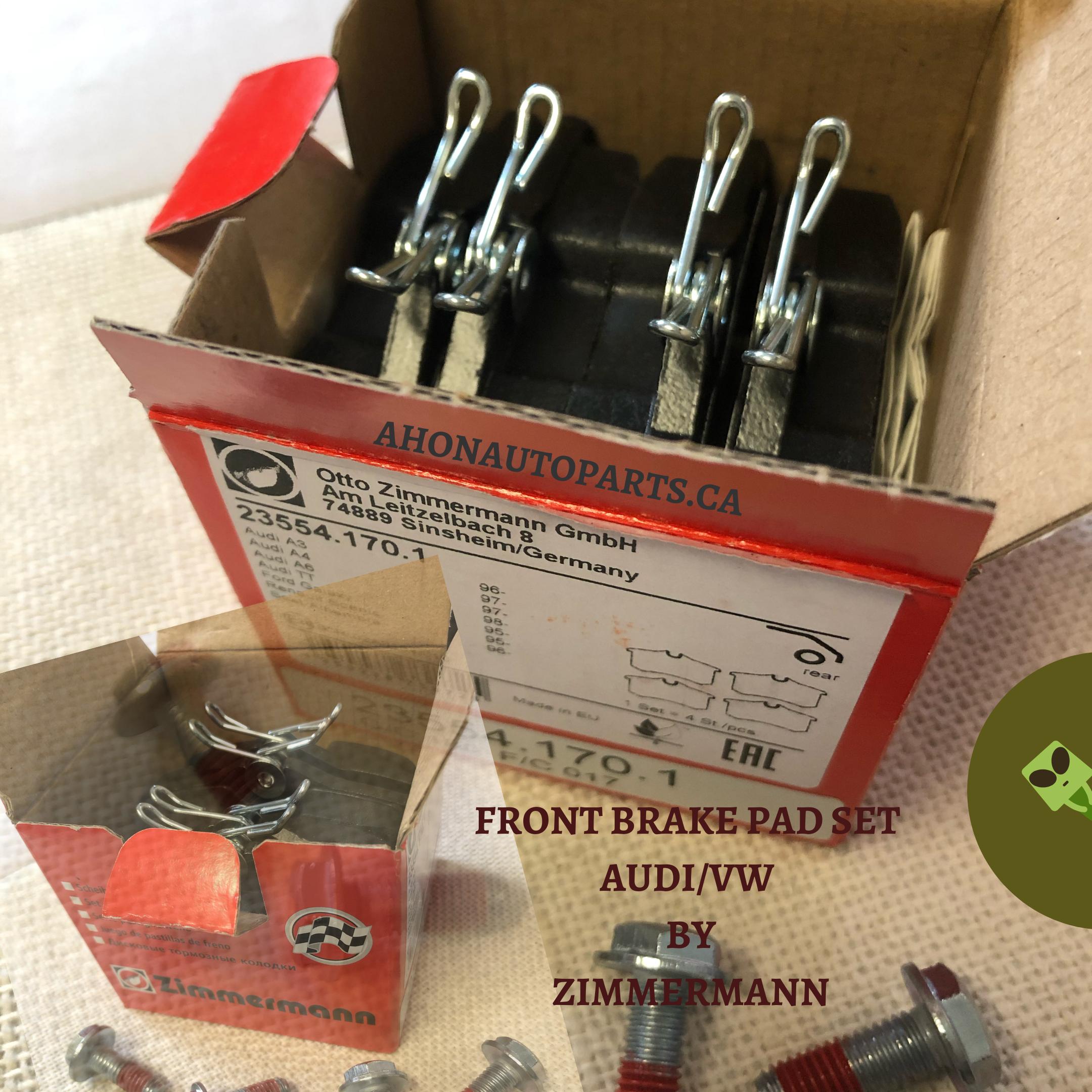 Zimmermann Front Brake Pad Set 23554 170 1 Front Brakes Brake Pads Pad