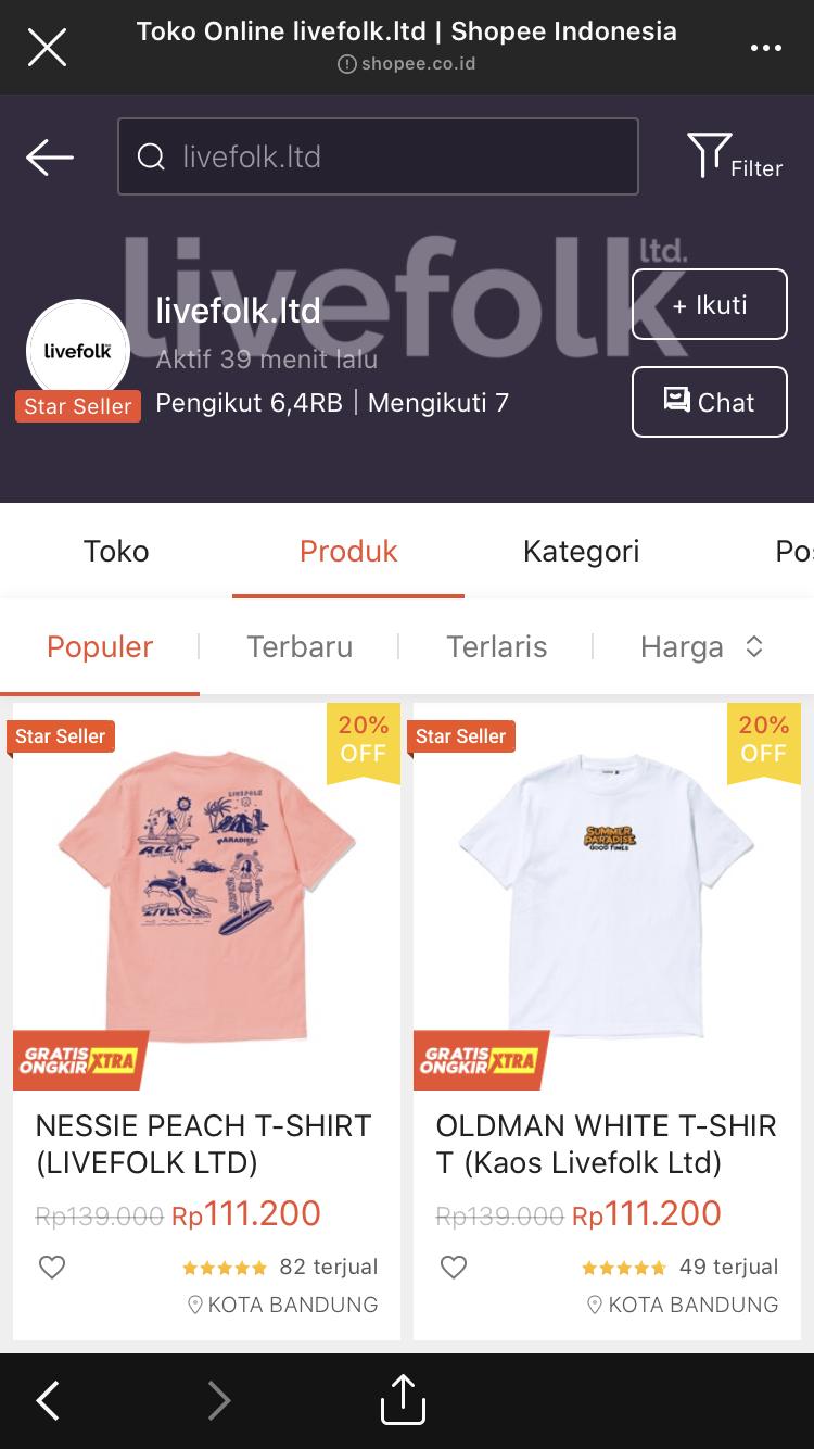 Baju Brand Lokal