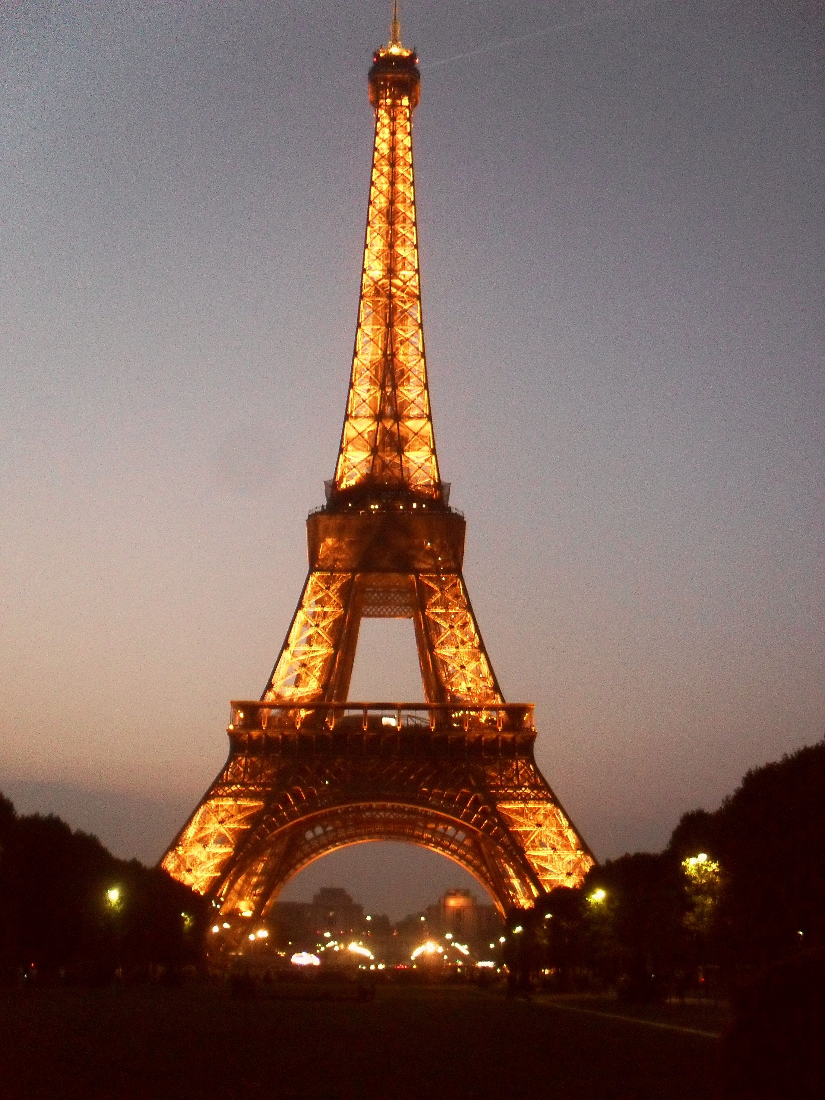 The beautiful Eiffel Tour at night taken while I was in France :)