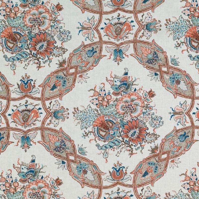 21081 31 Sissy Coral - Tilton Fenwick Prints - Tilton Fenwick - Duralee - Collections