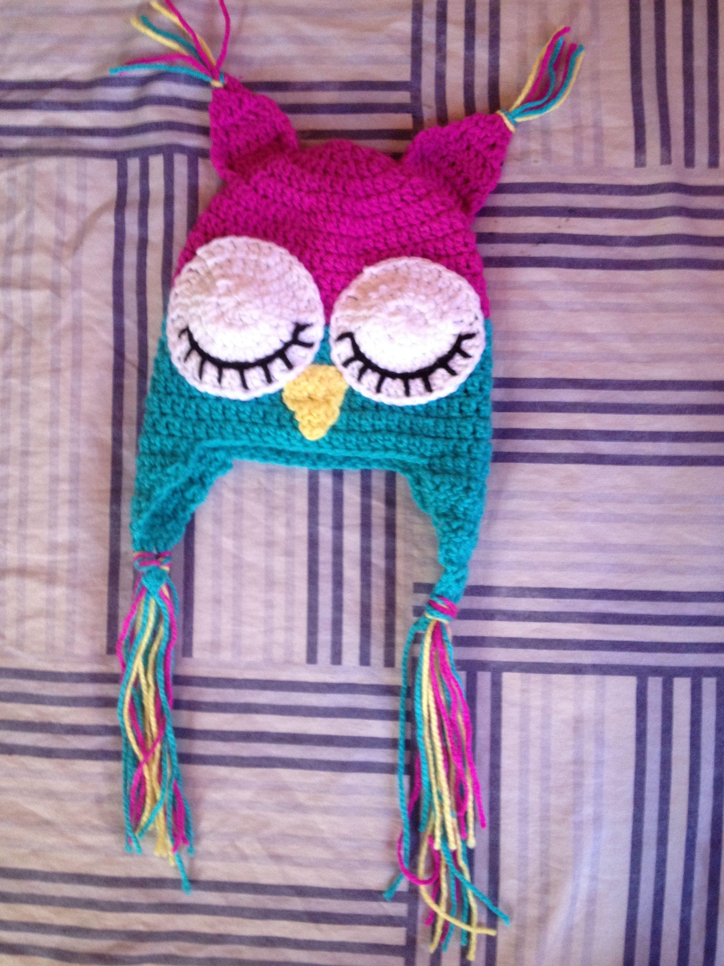 Moderno Búho Recién Nacido Patrón De Crochet Sombrero Galería ...