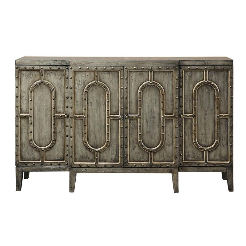 Mariella Industrial Breakfront Bar Cabinet Bar Furniture