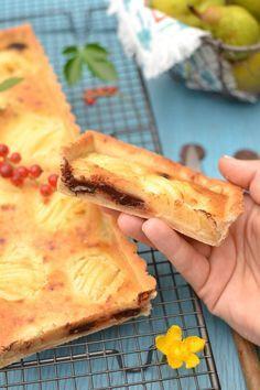 Tarte amandine poire ~ chocolat  Vegan  | Poire au ...