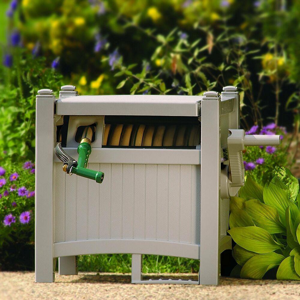 Suncast 100 Foot Capacity Garden Hose Reel Hideaway With Guide