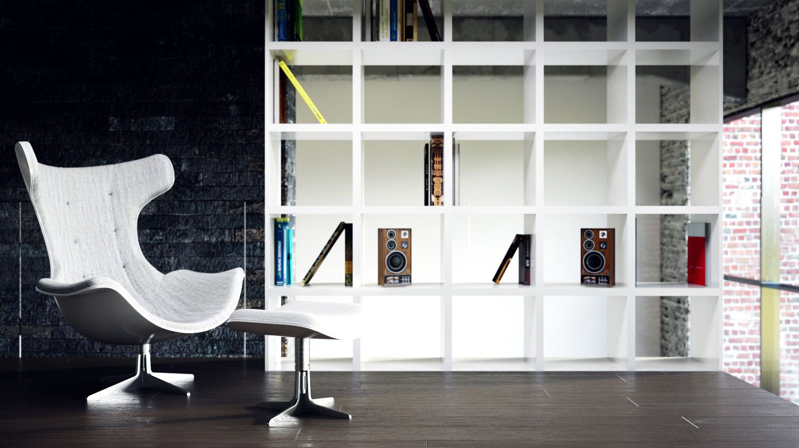 renovierte wohnung kenzo olga akulova, bookcase as a loft wall or room divider in your home. | home, Design ideen